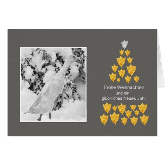 Weihnachtskarte mit Laufente Karte