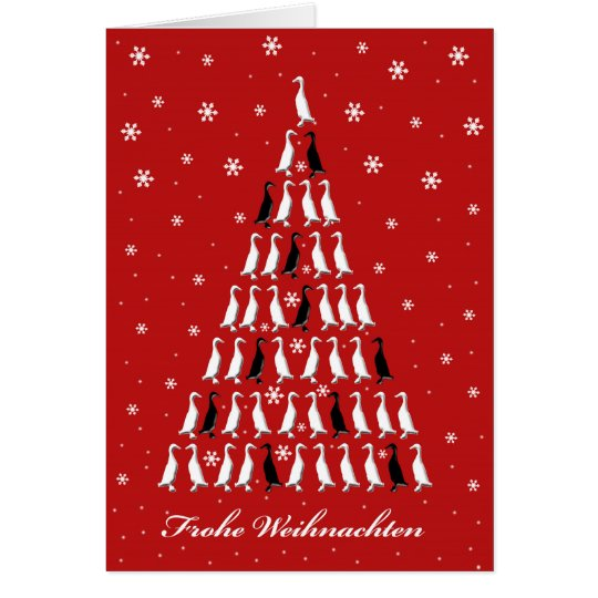 Weihnachtskarte mit Laufenten Karte