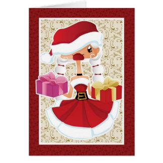 Weihnachtskarte mit Sankt-Helfer Grußkarten