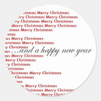 Weihnachtskarte Runder Aufkleber