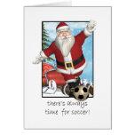 Weihnachtskarte, Sankt, die Fußball spielt Karten