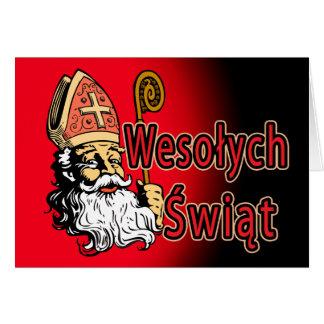 Weihnachtskarte Sankt Nikolaus Wesolych Swiat Karte