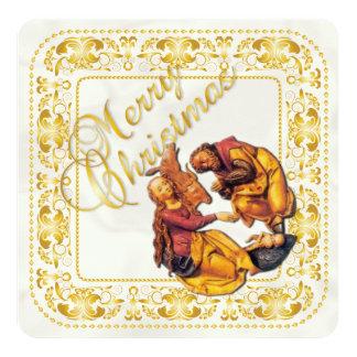 Weihnachtskarte u. Geburt Christis-Verzierung - Quadratische 13,3 Cm Einladungskarte