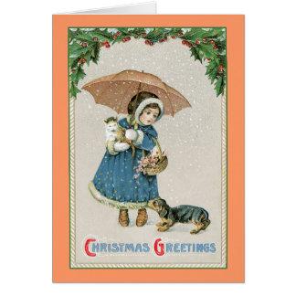 Weihnachtskarte: Vintages Weihnachten Karte