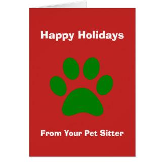 Weihnachtskarte von Ihrem Haustier-Modell Karte