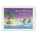 """Weihnachtskarte - """"Wüsten-Insel-Weihnachten """" Grußkarte"""