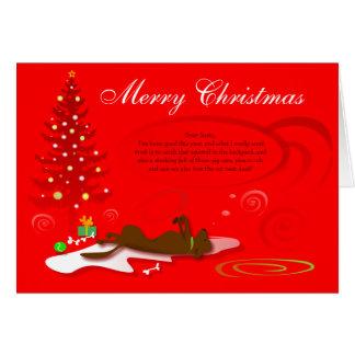 Weihnachtskarten-Schokolade Labrador - Rot mit Grußkarte
