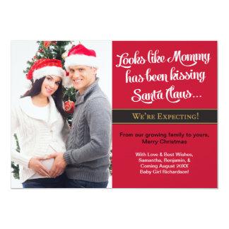 Weihnachtskarten-Schwangerschafts-Foto-Mitteilung 12,7 X 17,8 Cm Einladungskarte