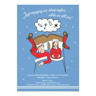 Weihnachtskarten-Schwangerschafts-Mitteilung Karte