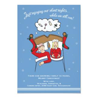 Weihnachtskarten-Schwangerschafts-Mitteilung - Karte