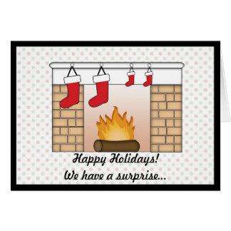 Weihnachtskarten-Schwangerschafts-Mitteilungs-Zwil Grußkarte
