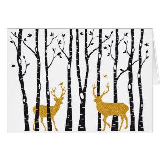 Weihnachtskartenespritren- und -birkenbäume karte