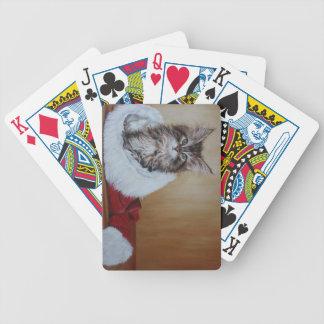 Weihnachtskätzchen-Malerei-Karten Bicycle Spielkarten