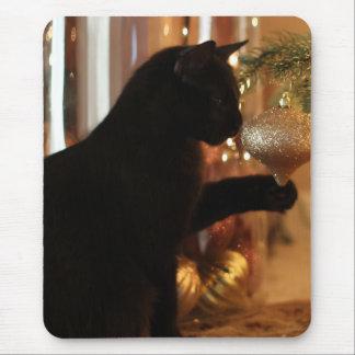 Weihnachtskätzchen-Mausunterlage Mousepad