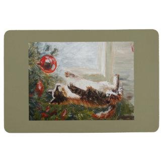 Weihnachtskatze Bodenmatte