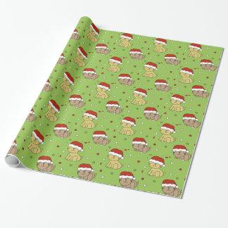 Weihnachtskatze Geschenkpapier