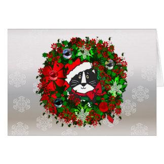 Weihnachtskatze Karte