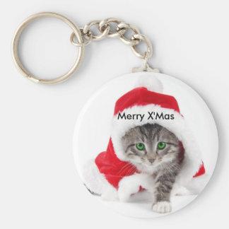 Weihnachtskatze Keychain Schlüsselanhänger