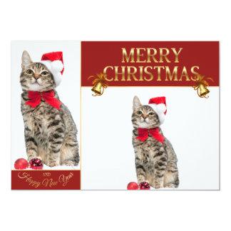 Weihnachtskatze - Weihnachtsmann-Katze - Karte