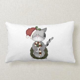 Weihnachtskatze Weihnachtsmann Lendenkissen