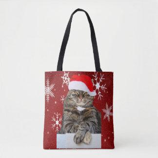 Weihnachtskatzen-Foto in der Tasche
