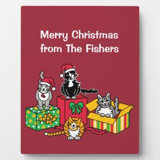 Weihnachtskatzen Fotoplatte