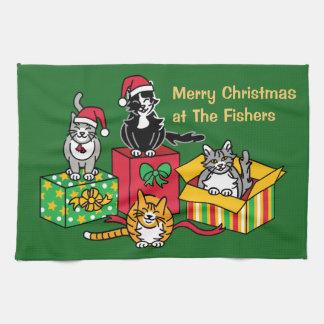 Weihnachtskatzen Handtuch