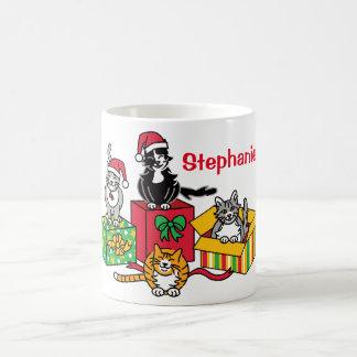 Weihnachtskatzen Kaffeetasse