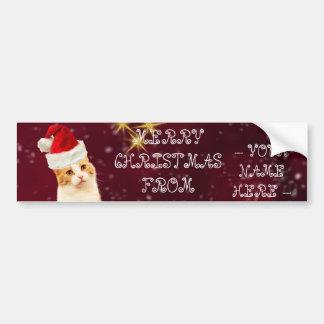Weihnachtskatzen-kundengerechte Autoaufkleber