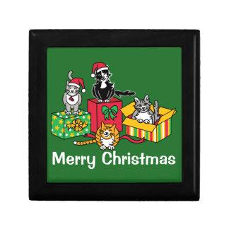 Weihnachtskatzen Schmuckschachtel