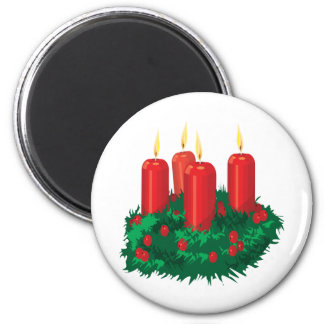 Weihnachtskerze Magnete