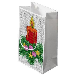 Weihnachtskerzen-Kreuz-Stich Kleine Geschenktüte