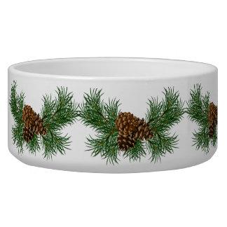 Weihnachtskiefern-Kegel Hundefutter-Napf