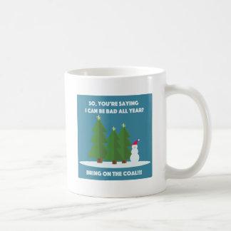 Weihnachtskohle Kaffeetasse
