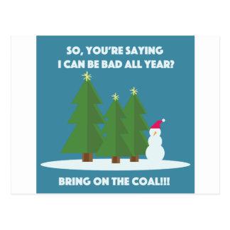 Weihnachtskohle Postkarte