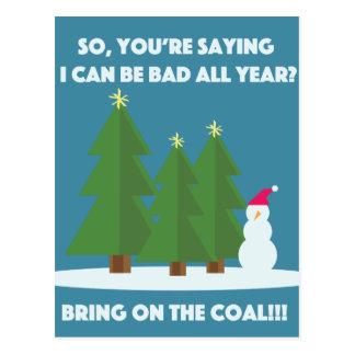 Weihnachtskohle Postkarten