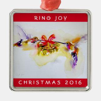 """Weihnachtskolibris """"kleiner Bell"""" Silbernes Ornament"""