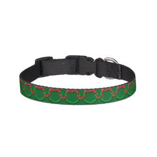 Weihnachtskragen - Grün Haustierhalsband