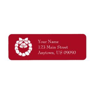 WeihnachtsKranz-Adressen-Etiketten (Burgunder)
