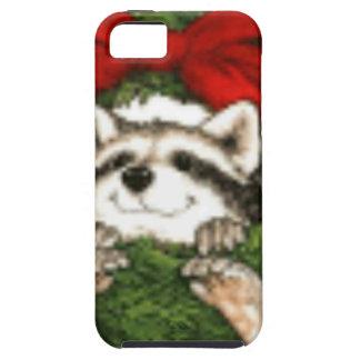 WeihnachtsKranz-Dekoration und Waschbär Etui Fürs iPhone 5