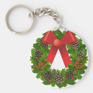 WeihnachtsKranz für die Feiertage Standard Runder Schlüsselanhänger
