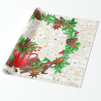 WeihnachtsKranz-Kiefernkegel Geschenkpapier