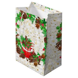 WeihnachtsKranz-Kiefernkegel Mittlere Geschenktüte