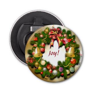 WeihnachtsKranz mit kundenspezifischer Mitteilung Runder Flaschenöffner