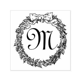 WeihnachtsKranz-Monogramm personifizieren Permastempel
