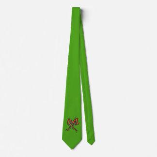 WeihnachtsKrawatte - Grün mit Bogen Bedruckte Krawatten
