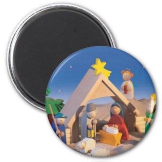 Weihnachtskrippen-Szene Runder Magnet 5,1 Cm