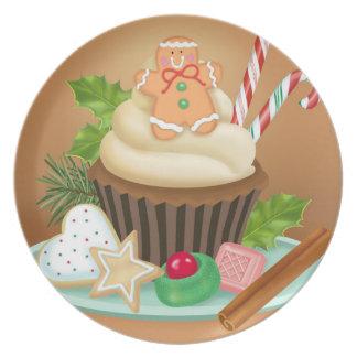Weihnachtskuchen-Melamin-Platte Melaminteller