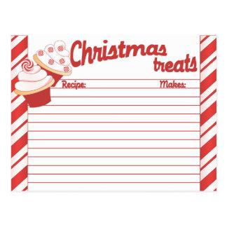 Weihnachtskuchen-verschickbare Rezept-Karte Postkarte