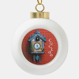 Weihnachtskuckucksuhr-Ball-Verzierung Keramik Kugel-Ornament